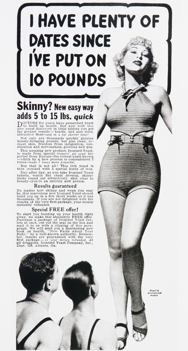 Awesome. Vintage Beauty and Hygiene Ads of the 1930s; notice the men have straps on their suits, this woman is wearing something that wasn't legal at the time.