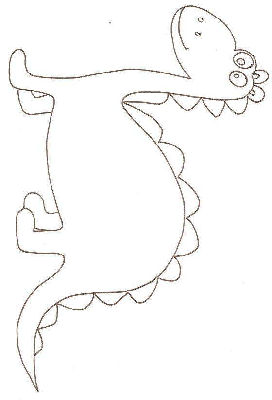 Imprimer le dessin d'un dinosaure à gros yeux à colorier