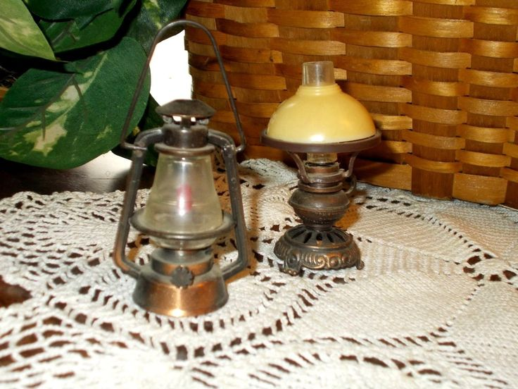 Lot of Miniature Metal Doll House Items Durham Mfg.~ Furniture Lamps Hutch Clock | eBay