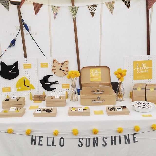 "Market stall craft booth ""Hello sunshine"""