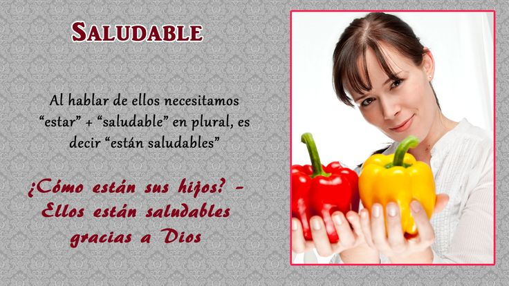 "Healthy: How are your children? - They are healthy thank God. To talk about ""ellos"" we need to ""estar"" + ""saludable"" in the plural, ie ""están saludables""."