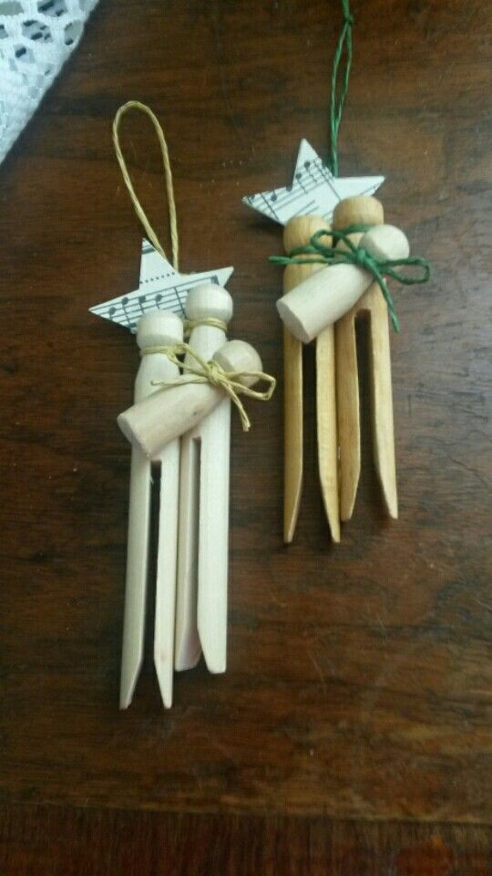 Clothespin nativity ornaments                                                                                                                                                      More