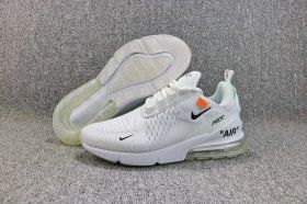 sports shoes 2c5a2 16811 OFF-WHITE x Nike Air Max 270 Flyknit Whtie Black AH8050 100 Women s Men s  Running Shoes Sneakers
