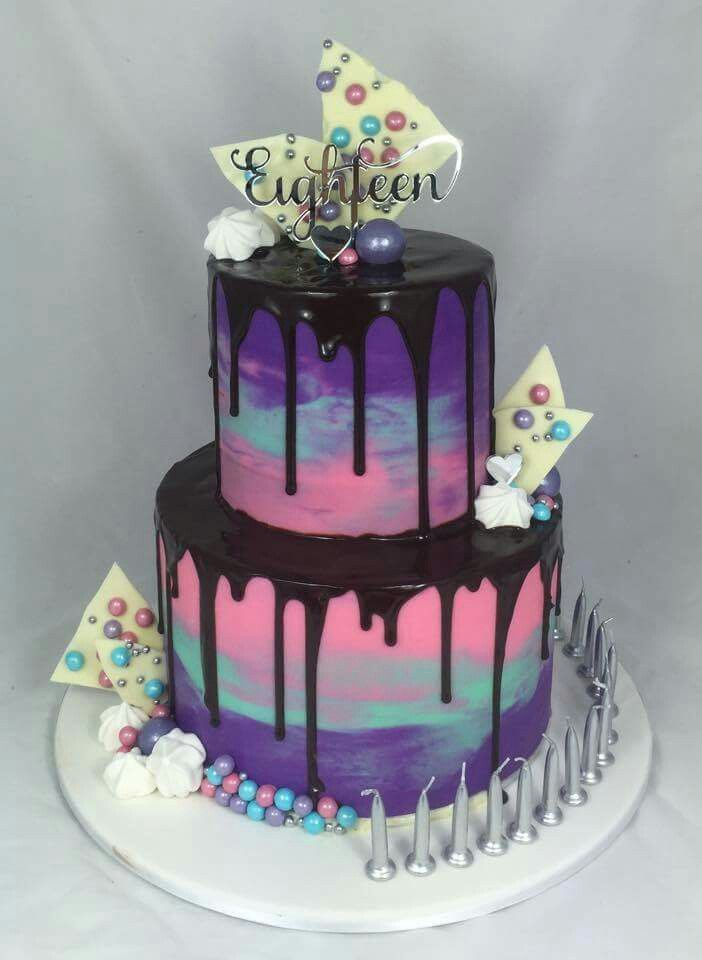 Chocolate drip cake!!! Best use of pastel colour buttercream :)