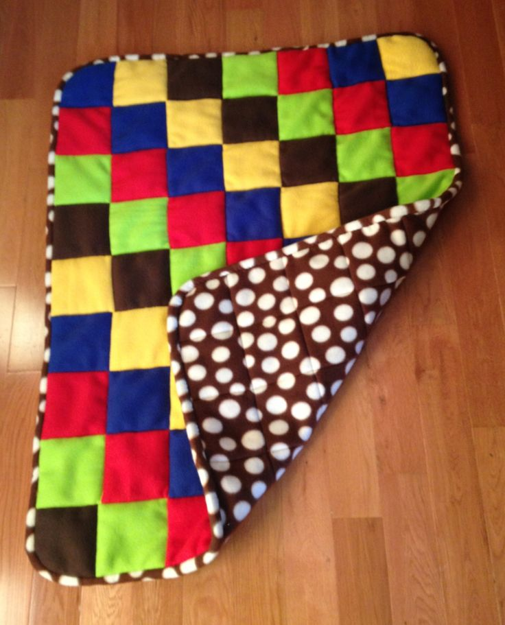 1000 Images About Fleece Quilt Blankets On Pinterest