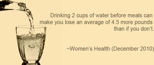 Worth trying, right? You get in your water in take and you lose weight. What is there not to love?