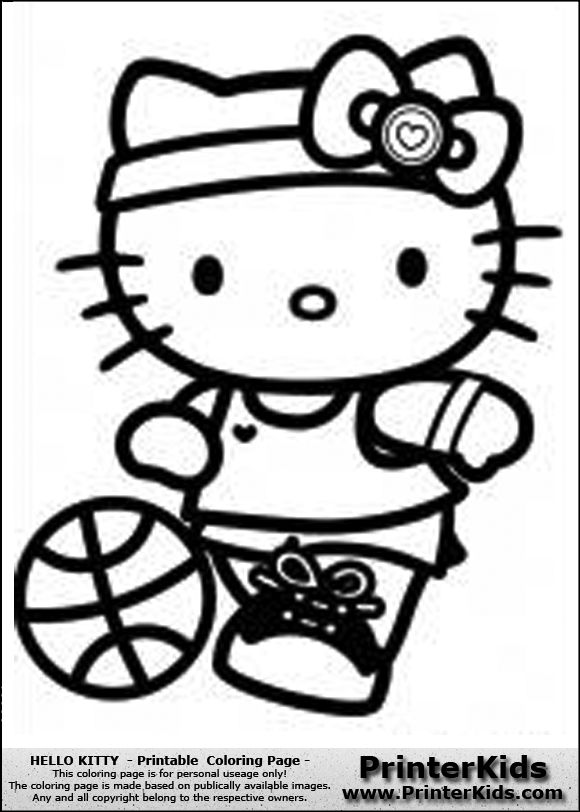 hello kitty football you are here printerkids hello kitty printable coloring page clipart pinterest hello kitty printable hello kitty and - Coloring Pages To Print Of Hello Kitty