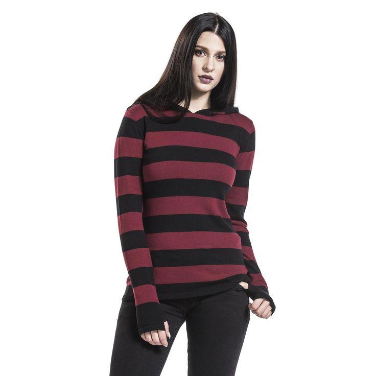 "Felpa donna ""Big Stripes Hoodie"" del brand #PussyDeluxe."
