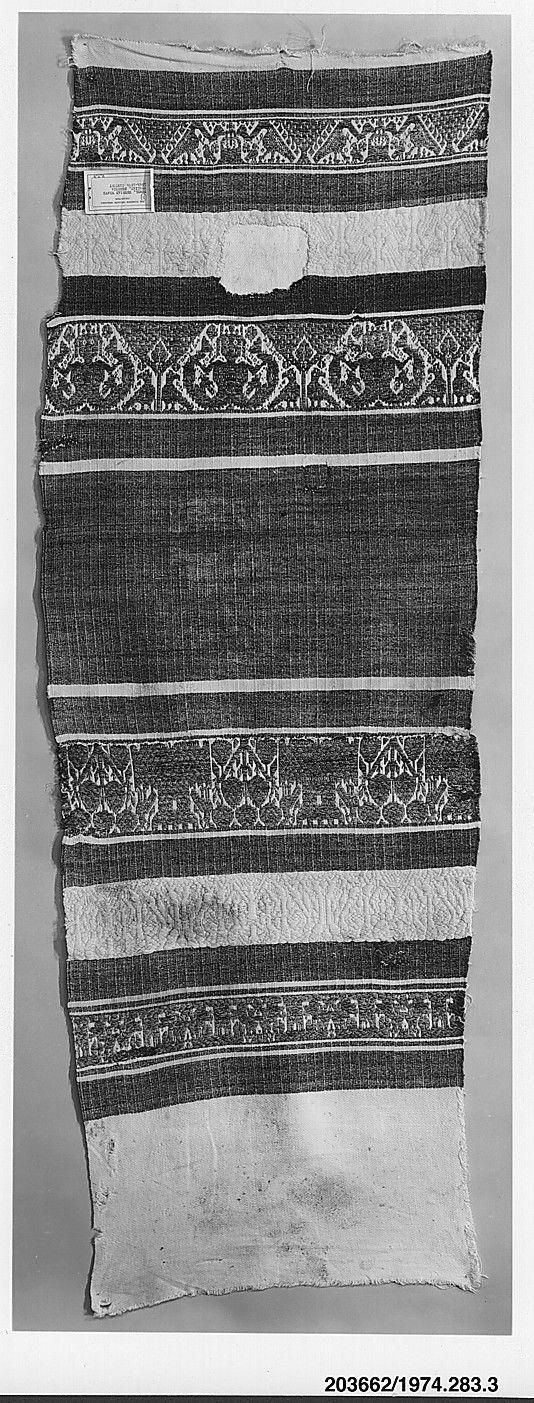 Towel ~ 15th-16th century ~ Italian: Perugia ~ linen and cotton ~ Metropolitan Museum of Art