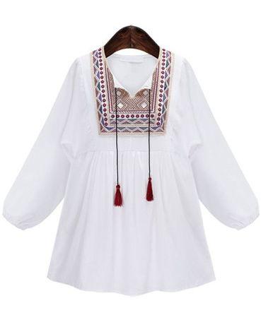 Blouse Embroidered  Pattern (B0092)   #caterpillar #barnard #lafond #bernardlafond #cottage glaze #groove #moda #shop #shopping #blouse #womenblouse #girlsblouse #shop