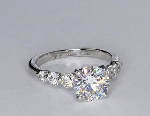 A Perfect 4.5CT Round Cut Solitaire Russian Lab Diamond Engagement Wedding Anniversary Ring - Joy of London Jewels