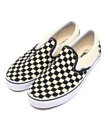 VANS(バンズ)の「VANS ヴァンズ VN-0EYEBWW	SLIP ON*	BLK/WHT CHK/WHT(スリッポン)」