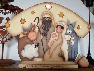 Laura Moreni..tole painting nativity