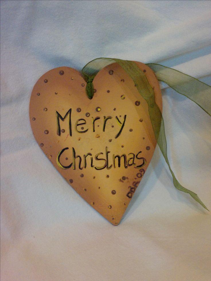 """cuore da appendere """"merry christmas"""""""