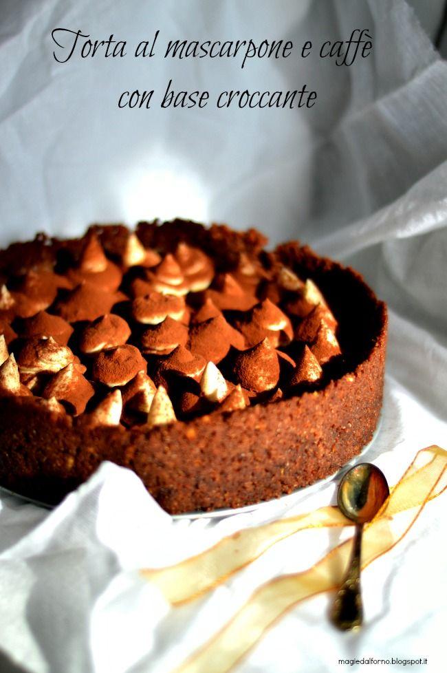 Torta al mascarpone e caffè con base croccante   magie dal forno