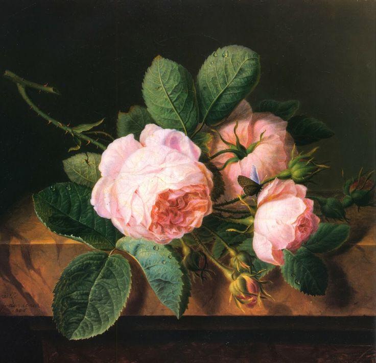 Stillleben - Rosen, Cornelius Spaendonck 1756 bis 1839 war ein niederländischer Maler.