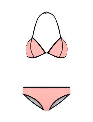 Teens Pink Colour Block Bikini Set | New Look