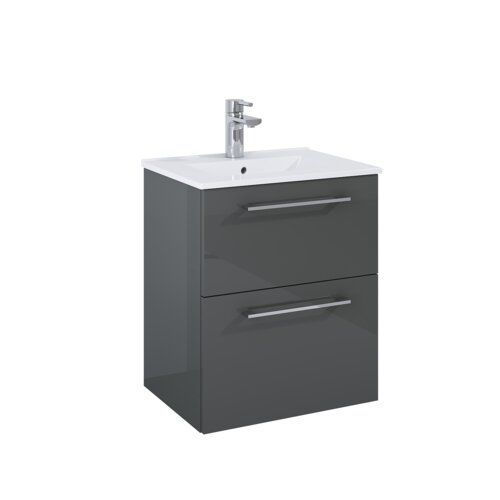 Shoshana 50cm Wall Mounted Vanity Unit Base Metro Lane Wall