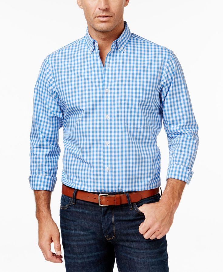 Club Room Men's Gingham Long-Sleeve Shirt