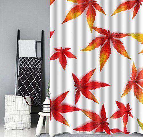 Xundecor Fresh Maple Leaves Shower Curtain Liner Mildew R Https