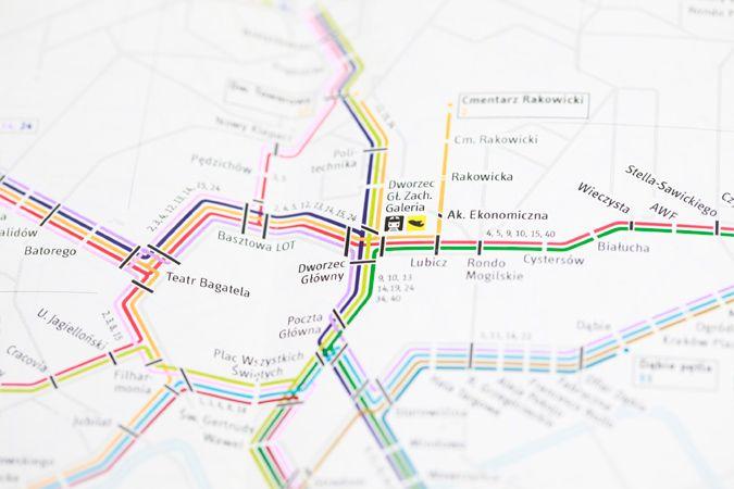 Plan Komunikacji Miejskiej Krakowa  | www.parastudio.pl