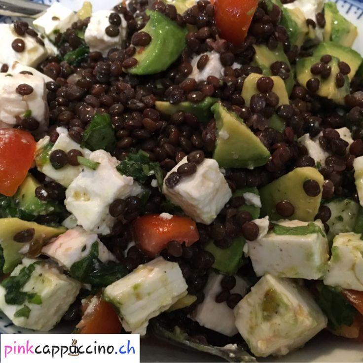 Salade de lentilles beluga (sans gluten)