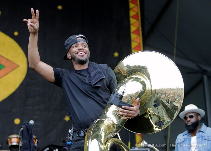 Usher and The Roots perform on the Congo Square Stage during the New Orleans Jazz and Heritage Festival at the Fair Grounds in New Orleans on Saturday, April 29, 2017