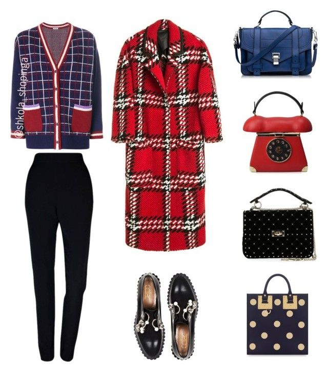 """1"" by shkolashopinga ❤ liked on Polyvore featuring Plakinger, Miu Miu, Coliàc Martina Grasselli, Proenza Schouler, Valentino and Sophie Hulme"
