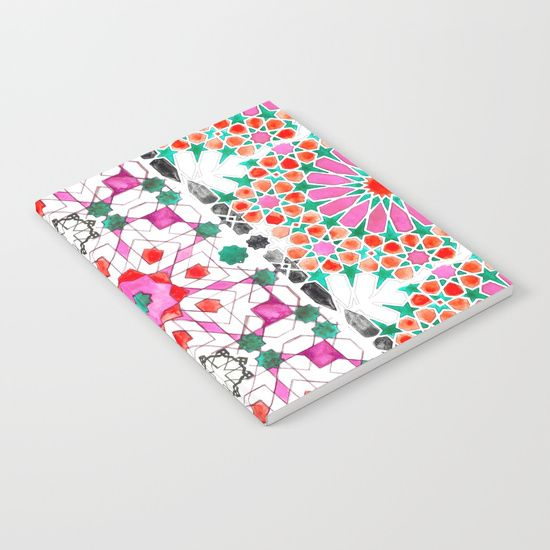 Pink Moorish Notebook https://society6.com/product/pink-moorish_print?curator=yazrajadesigns