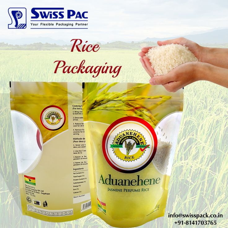 #Ricepackaging is useful for #promoting the products or #Brand. Most commonly our rice packaging includes #White #rice #bags #Brown rice bags #Basmati rice bags and many others. http://www.swisspack.co.in/rice-packaging/