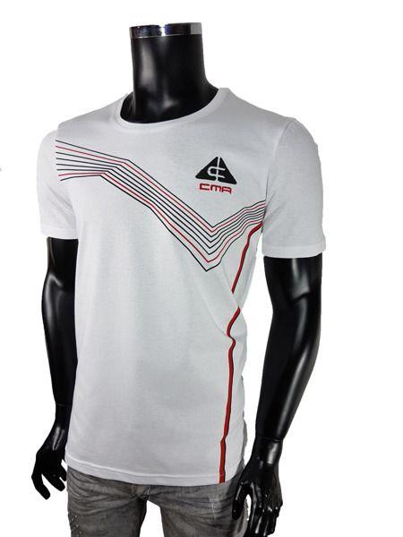 T-Shirt sportowe - Biały - T-shirty męskie - Awii, Odzież męska, Ubrania męskie, Dla mężczyzn, Sklep internetowy
