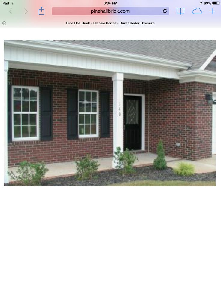Cape Cod Curb Appeal Ideas Part - 37: Pine Hall Brick - Burnt Cedar - Red Brick With Black Door And Black  Shutters.