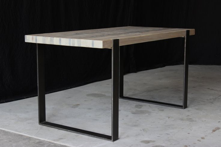 8' original industrial modern dining table by seventeen20 on Etsy
