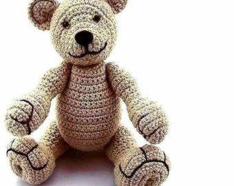 amigurumi bear Alexa Alaska, PDF crochet pattern animal tutorial file by Katja Heinlein teddy stuff toi plushie digital teddie ebook