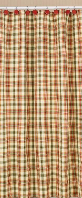 plaid shower curtain | primitive country shower curtain