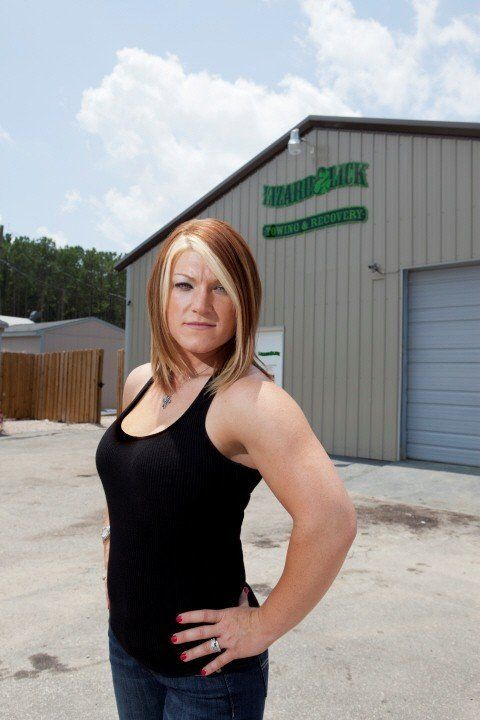 Amy Shirley in Shorts | Lizard Lick Towing