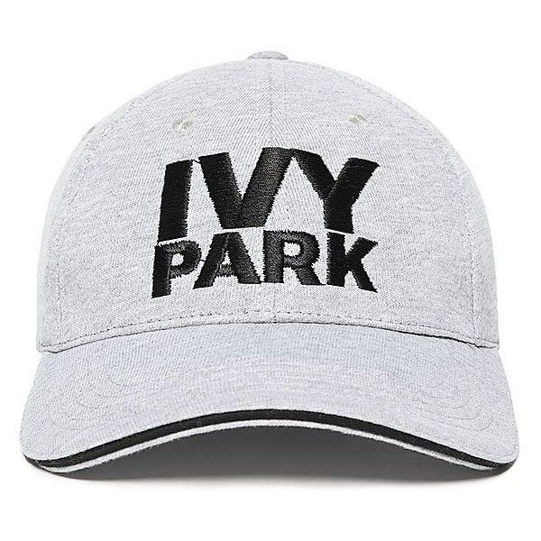IVY PARK Baseball Cap ($22) ❤ liked on Polyvore featuring accessories, hats, baseball hats, baseball cap, sun visor, sun visor hat and embroidered ball caps