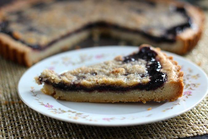 blueberry elderberry tart