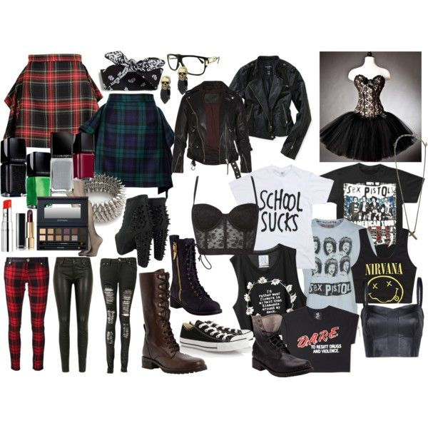 """GRUNGE SHOOT: avril lavigne outfit"" by drownyourfears on Polyvore"