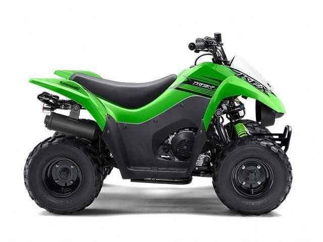 New 2016 Kawasaki KFX 50 ATVs For Sale in California. The KFX®50 ATV is the perfect first ATV to introduce new riders six years and older to the exciting four-wheel lifestyle. 49.5cc four-stroke engine and automatic transmission delivers smooth beginner-friendly performance Push button electric start provides simple and reliable starting Parental controls such as an engine stop lanyard, adjustable throttle limiter, and CVT collar allow the speed and performance to be adjusted to rider…