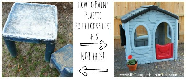 How to paint plastic with good results, pin now read later...could come in handy in the future!