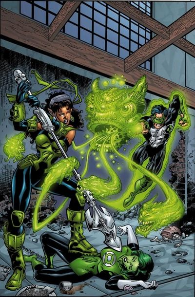 Green Lanterns Kyle Rayner & Jade in Green Lantern Vol 3 # 112 - Cover Art by Darryl Banks, Terry Austin, Richard Horie, & Tanya Horie