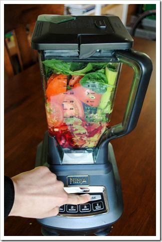 Making Tomato Vegetable Juice in the Ninja Blender–AKA: DIY V8--from Test Kitchen Tuesday