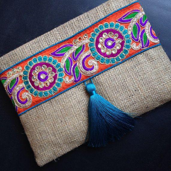 Bohemian Clutch, ethnic clutch, boho bag, clutch purse, women handbag, handmade…