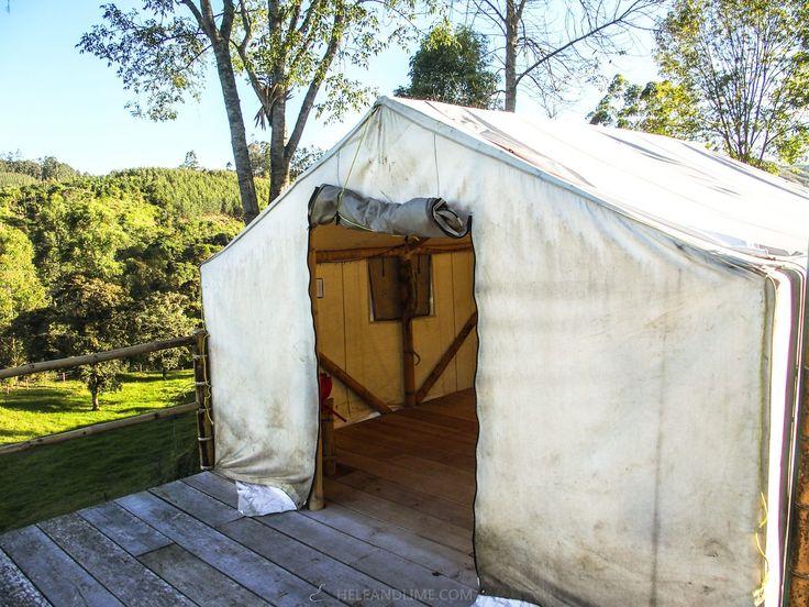 Safari tent - El Mocambo Hostel and Guestshouse - Finca nearby Salento and the Cocora Valley, Colombia (coffee region)