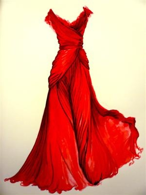 Photo: Wedding Dressses, Elie Saab, Style, Red Dresses, Red Gowns, The Dresses, Fashion Illustrations, Red Wedding, Fashion Sketch