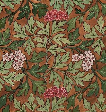 Morris & Co. Design for Wallpaper, 19th century. I would have this.