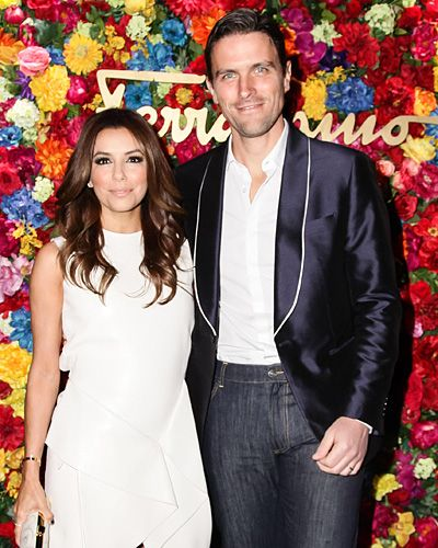 Eva Longoria joined Ferramos leather product designer James Ferragamo at the McKittrick Hotel in New York City to toast to the launch of LIcona, an online project curated by photographer Claiborne Swanson Frank in celebration of the 35th anniversary of Ferragamos iconic Vara flat shoe.