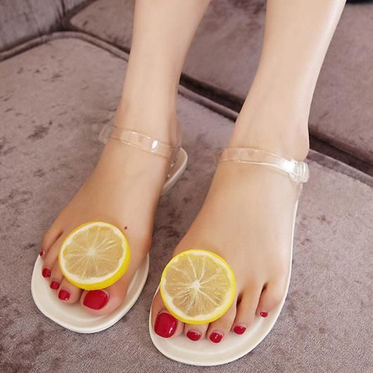 Jelly Fruit Flip Flops/ Flat Sandals