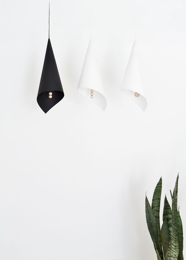 DIY Folded Lampshade With Wooden Elements